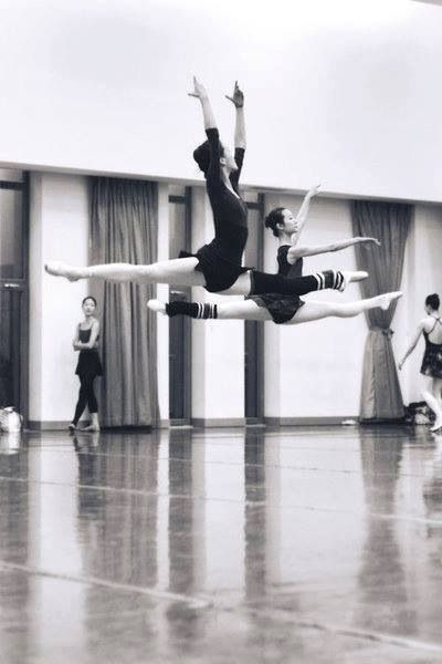 grand jete! Look at the form!! Look at the height!!!
