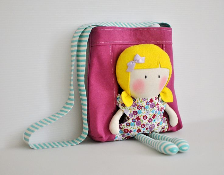 Image of My Teeny-Tiny Doll® Hayley & Carry-Me Tote Sethttp://cookyousomenoodles.bigcartel.com/product/my-teeny-tiny-doll-hayley-carry-me-tote-set