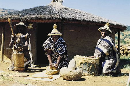 South Africa's Free State province's people include the colourful Basotho.
