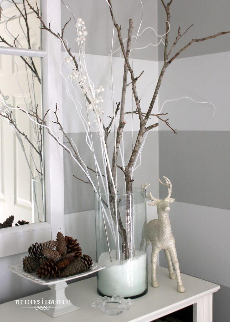 White branches for the floor vases  Modern Wedding  Pinterest