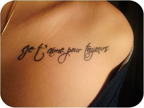 I love you forever in french tattoo ideas pinterest for Love always tattoo