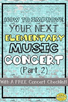 This has tons of great tips for improving music programs including advice for communicating with parents and classroom teachers as well as avoiding disasters with sound! It also includes a FREE editable concert checklist to help ease your stress the day of the show.
