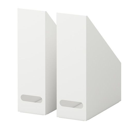KVISSLE Magazine file, set of 2 IKEA Handles make it easy for you to pull out and lift the magazine file. for laundry room $13