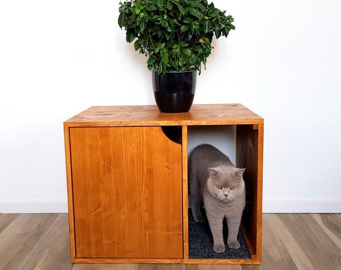 Corner Litter Box Cover Pet House Cat Litter Box Cabinet Pet Furniture Made Of Spruce Wood Litter Box Covers Pet Furniture Cat Training Litter Box
