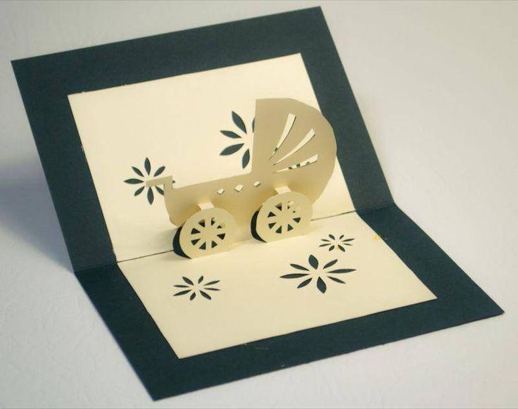 carte de voeux - landau - cartes 3d - Kelly and Co Boutique - Fait Maison