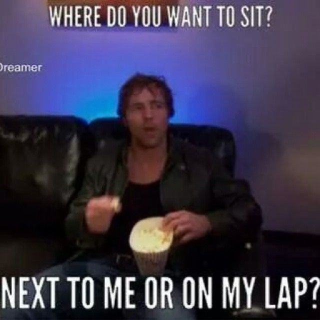 Is that even a question?? On your lap!
