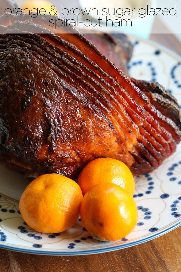 Orange Brown Sugar Spiral-Sliced Ham from Our Best Bites