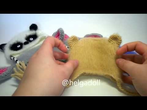вязаные шапочки для кукол - YouTube
