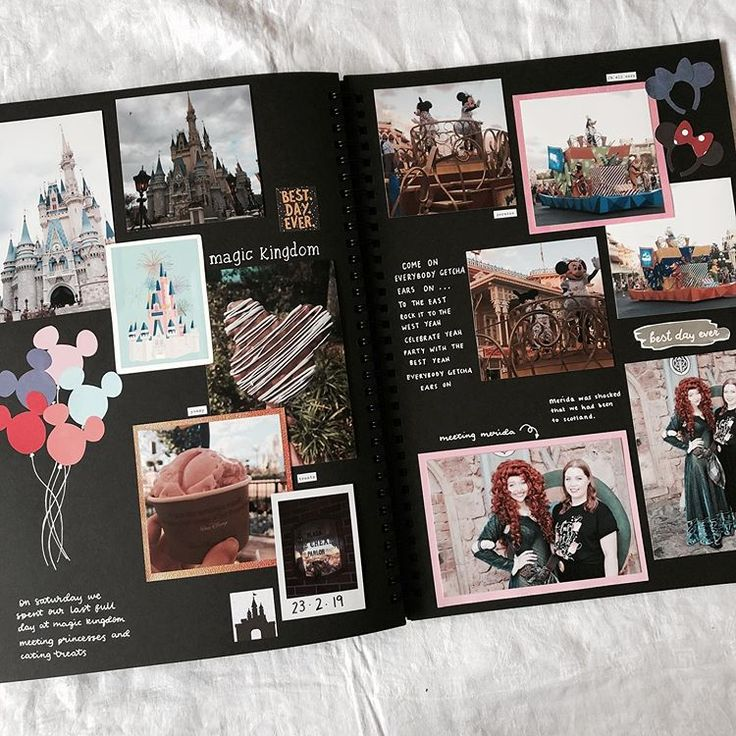 finally finished my disney world scrapbook so have some of my favourite pages . finally finished my disney world scrapbook so have some of my favourite pages . Scrapbook Da Disney, Travel Scrapbook, Photo Album Scrapbooking, Scrapbook Albums, Scrapbook Photos, Couple Scrapbook, Bullet Journal Ideas Pages, Bullet Journal Inspiration, Bujo Planner