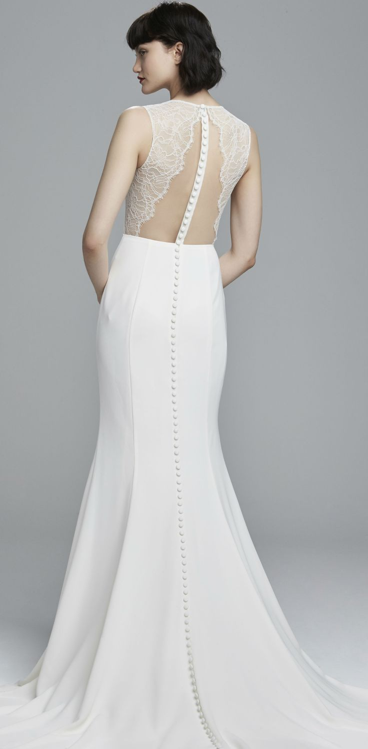 Lace back wedding dress | 'Bonnie' by Nouvelle Amsale
