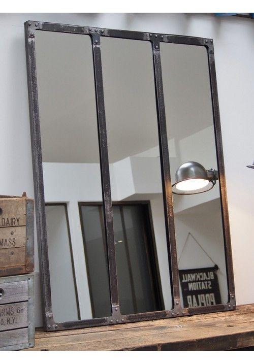 Miroir atelier riveté 120x90