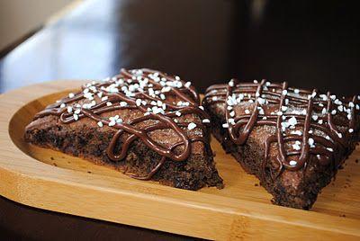 Triple Chocolate Scones- chocolate wasted breakfast scones...@shugarysweets