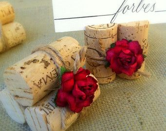 christmas name cards for table settings | Place Card Holders Autumn Holiday Rustic Weddings Table Settings