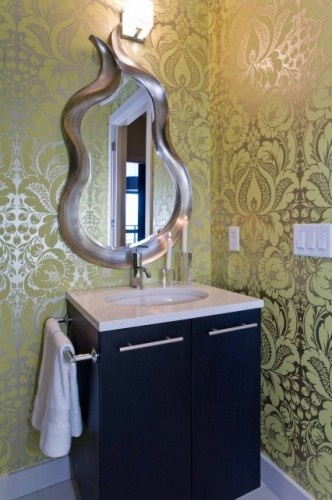 Creative Funky Bathroom Mirror Altho I Think Would Paint It A Differ