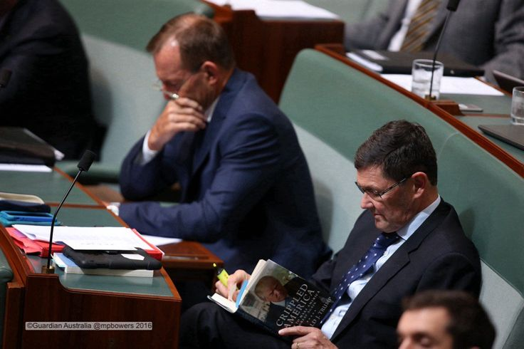 """Mikearoo on Twitter: """"Kevin Andrews gets some quality Trump time during #QT @gabriellechan @murpharoo @GuardianAus #politicslive https://t.co/uCmPI5RIHR"""""""