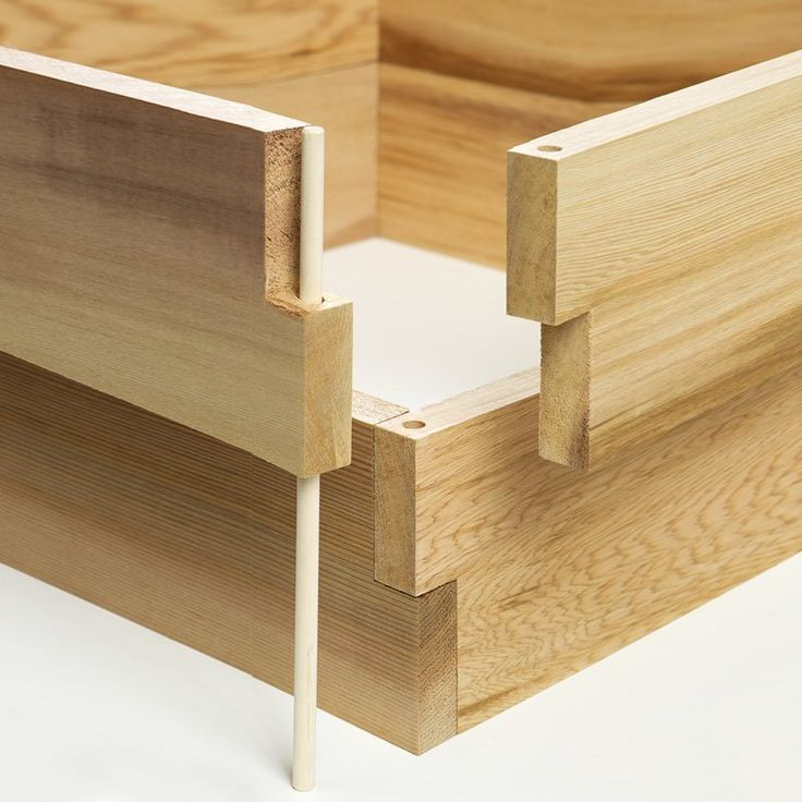All Things Cedar RG Double Raised Garden Earth Box - RG48U-2... I bet diy-ers could figure out how to use this joinery technique