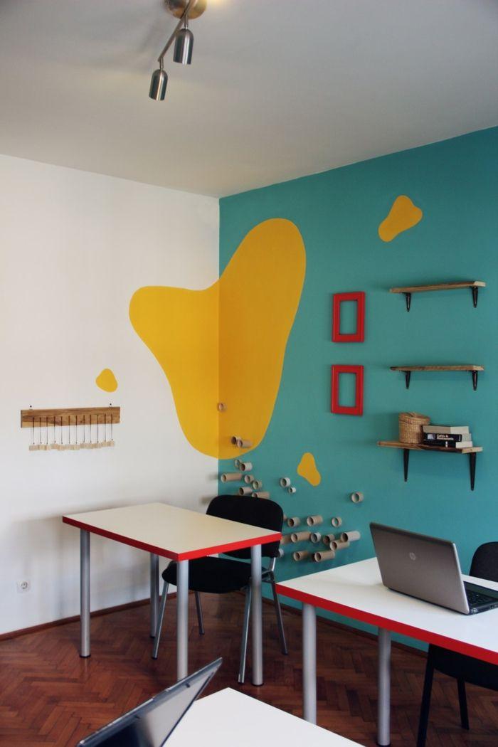 Farbgestaltung Wohnzimmer Wandgestaltung Wanddesign Bro Friedlich