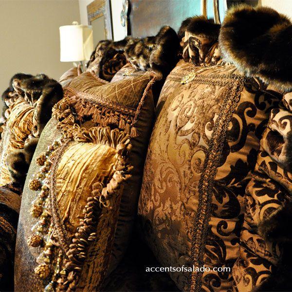 Sumptuous Old World Bedding CANELA #Home #Tuscan #Design - Find more Ideas on www.IrvineHomeBlog.com/HomeDecor  Irvine, California - Christina Khandan ༺༺ ℭƘ ༻༻