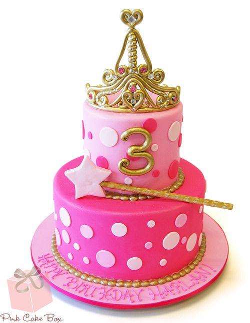 3rd Birthday Tiara Cake by Pink Cake Box