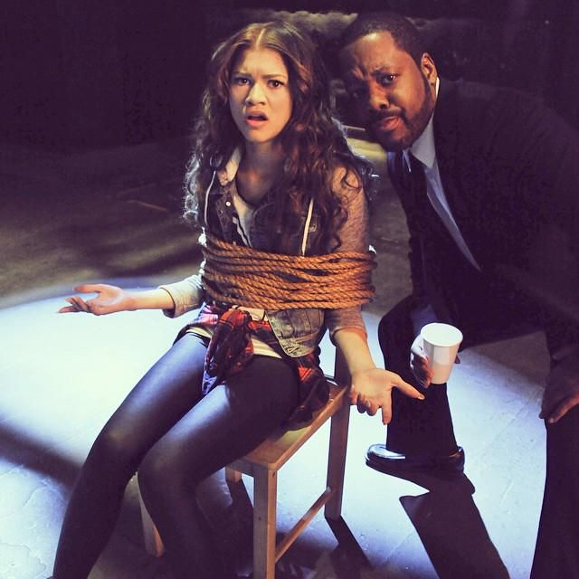 disneychannel: Zendaya is a little tied up right now...TV dad to the rescue. #KCundercover