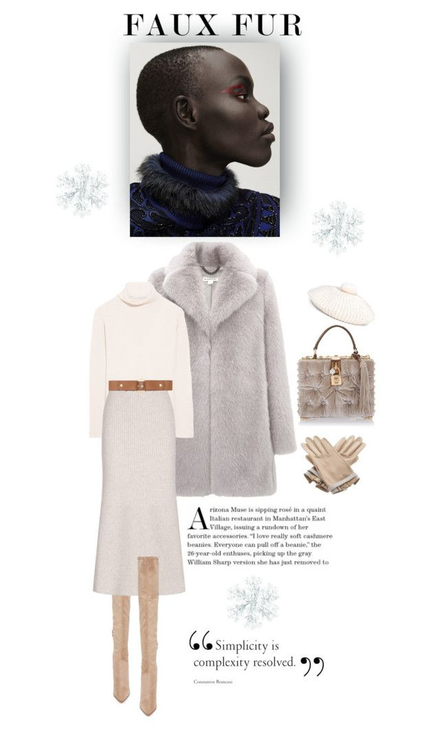 """""""Let it snow !"""" by iriadna ❤ liked on Polyvore featuring Whistles, The Row, Kendall + Kylie, Dolce&Gabbana, Gucci, Hermès and Marni"""