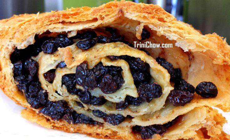 """""""Currants"""" Roll, a popular pastry in Trinidad & Tobago"""