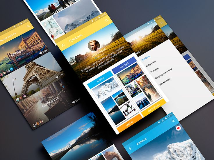 Travel App Material Design by ALEX BENDER