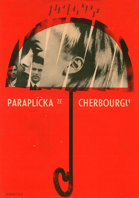Umbrellas of Cherbourg Czech movie poster