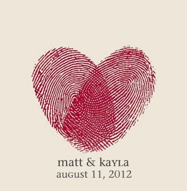 fingerprint invites/save the dates?