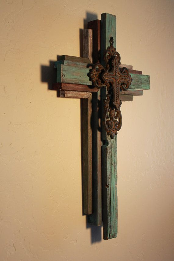 OKLAHOMA CROSS Small Wooden Rustic Cross 24 by OkieBudsWorkshop