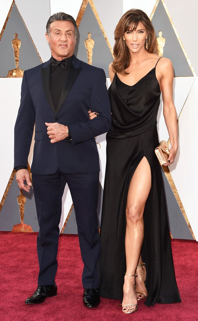 Sylvester Stallone & Jennifer Flavin from Couples at the 2016 Oscars | E! Online