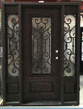 Wrought Iron Door, Doors W/ Iron Works Oper-able Glass Panel TFL-IRON7101S-IW01