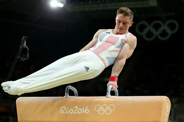 Nile Wilson of Great Britain competes on the pommel horse during the Men's Individual All-Around final on Day 5 of the Rio 2016 Olympic Games at the Rio Olympic Arena on August 10, 2016 in Rio de Janeiro, Brazil.