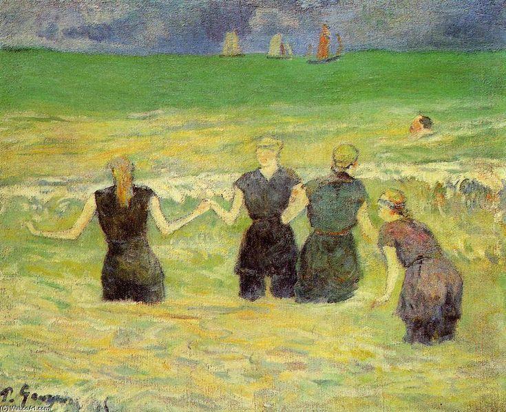 Mujeres bañandose - Paul Gauguin