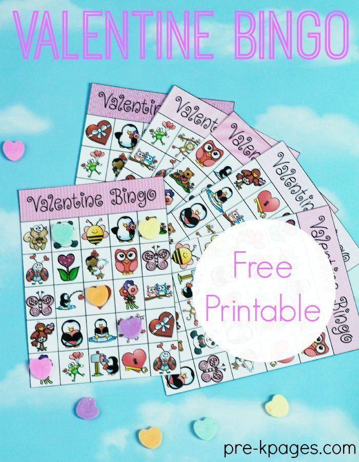 Printable Valentine Bingo for your Preschool or Kindergarten Valentine's Day Classroom Party!