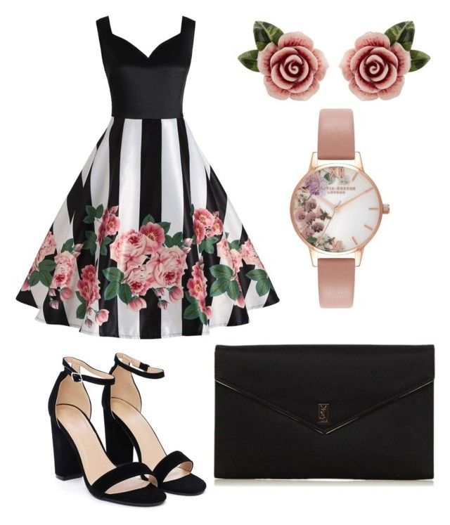 """""""Untitled #22"""" by westboorg-e on Polyvore featuring Nasty Gal, Olivia Burton, Dolce&Gabbana and Yves Saint Laurent"""