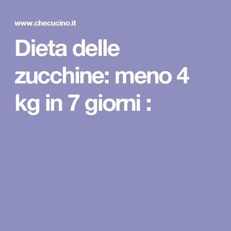 Dieta delle zucchine: meno 4 kg in 7 giorni :