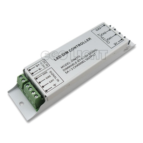 3 Channel 0 10v Pwm Dimmer 12 24vdc 5a Led Dimmer Led Dimmer