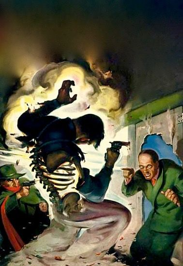 THE SHADOW PULP MAGAZINE COVER FOR DEATH'S BRIGHT FINGER