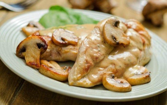 Κοτόπουλο φιλέτο αλα κρεμ με μανιτάρια