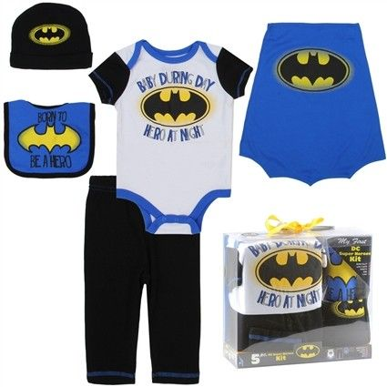 Sizes One Size Fits All 0-6 Months Made From 60% Cotton 40% Polyester Brand DC Comics Batman Officially Licensed DC Comics Batman Baby Clothes