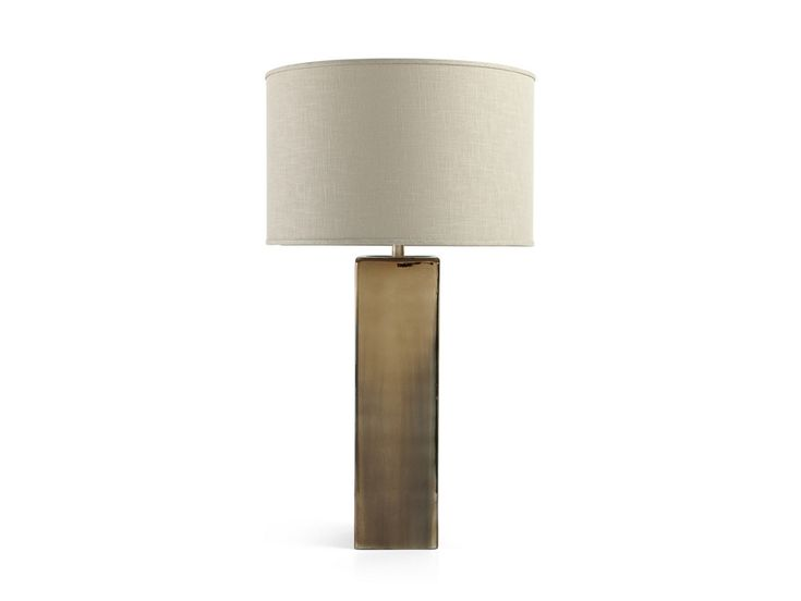 Adrano Table Lamp in Gold With Natural Shade | Arhaus ...