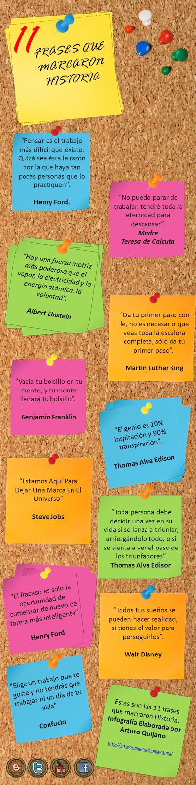 11 frases que hicieron historia #infografia #infographic #citas #quotes