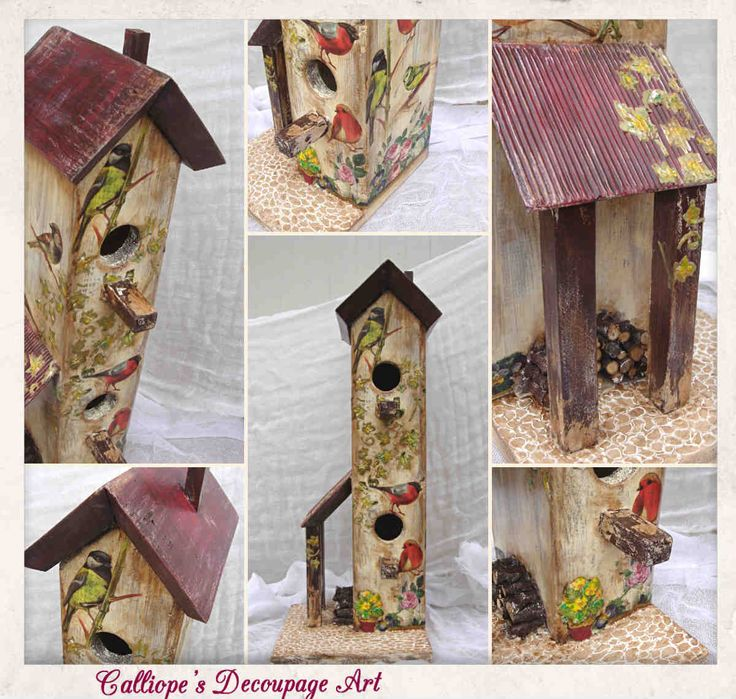 Decorative Bird House | Calliope's Decoupage Art