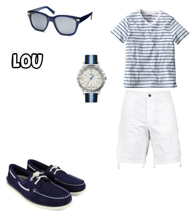 lou by barbaranecho on Polyvore featuring Urban Pipeline, Warby Parker, Todd Snyder, Sperry Top-Sider and Timex