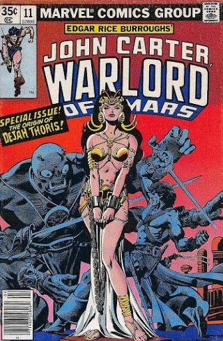 John Carter, Warlord of Mars #11 (Apr '78) cover by Dave Cockrum & Rudy Nebres.