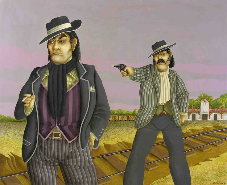 Milonga de dos Hermanos (2005) - Óleo s/tela 100 x 122