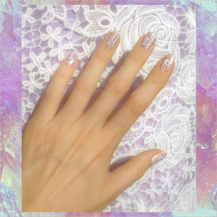 Iridescent nails by Ziggy Glitterdust, bridal nails, wedding nails, holographic nails, pastel dream