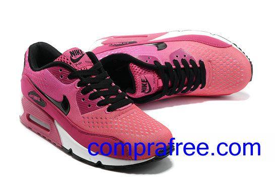 Comprar baratos mujer Nike Air Max 90 Zapatillas (color:negro,blanco,rosa) en linea en Espana.