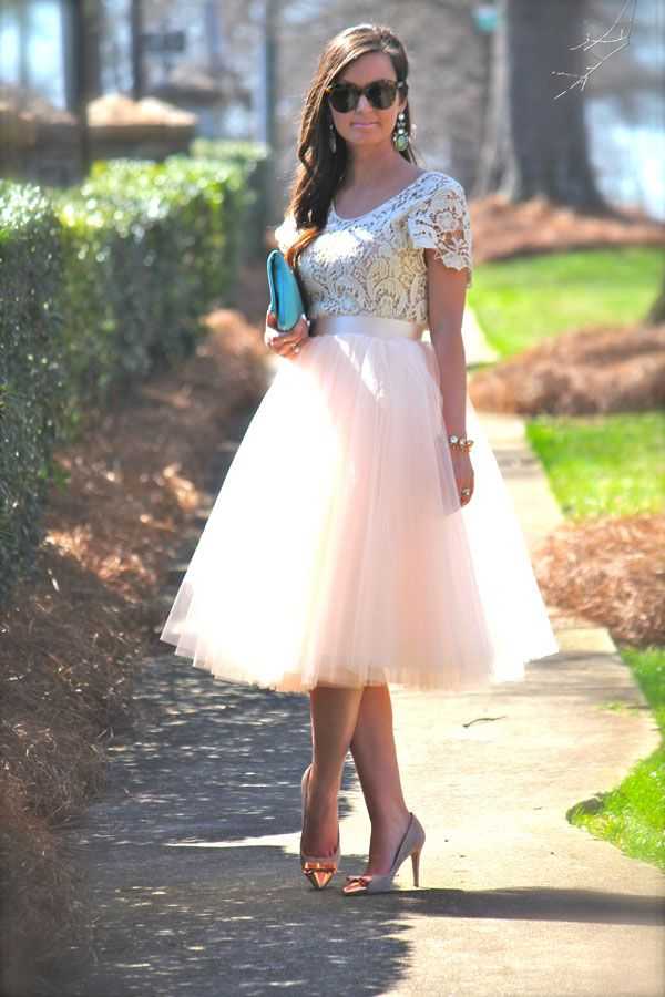 Tulle skirt and lace!